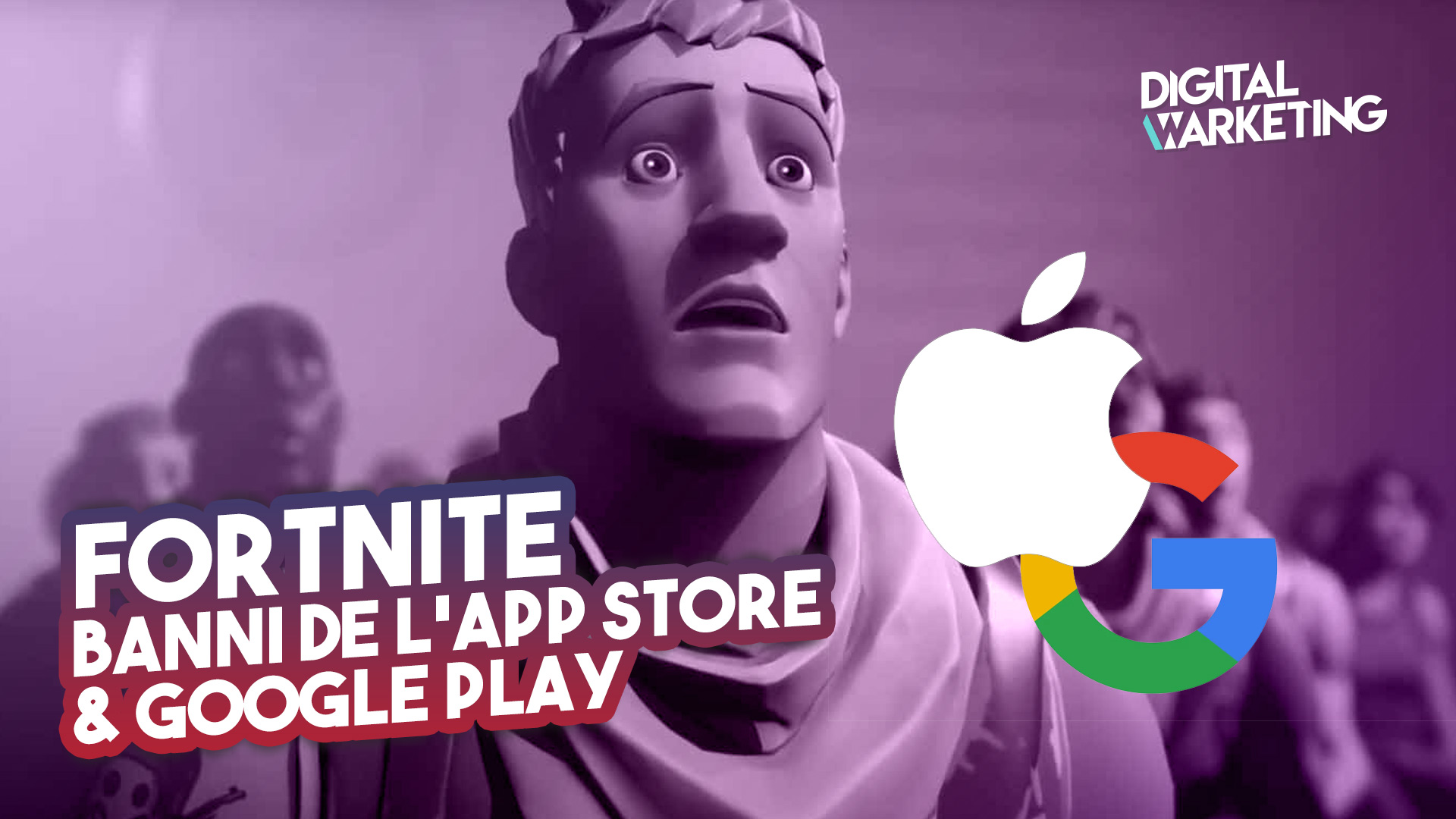 Fortnite banni des app stores Apple et Google – #FreeFortnite