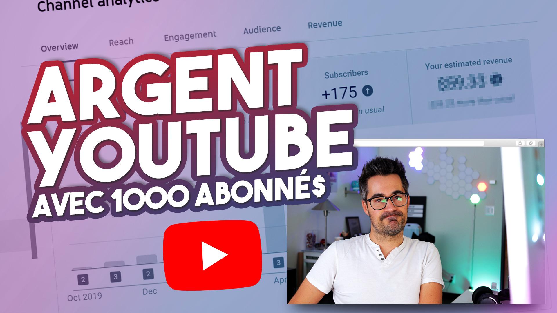 Combien on gagne sur YouTube avec 1000 abonnés – Comprendre le CPM YouTube (Octobre 2020)