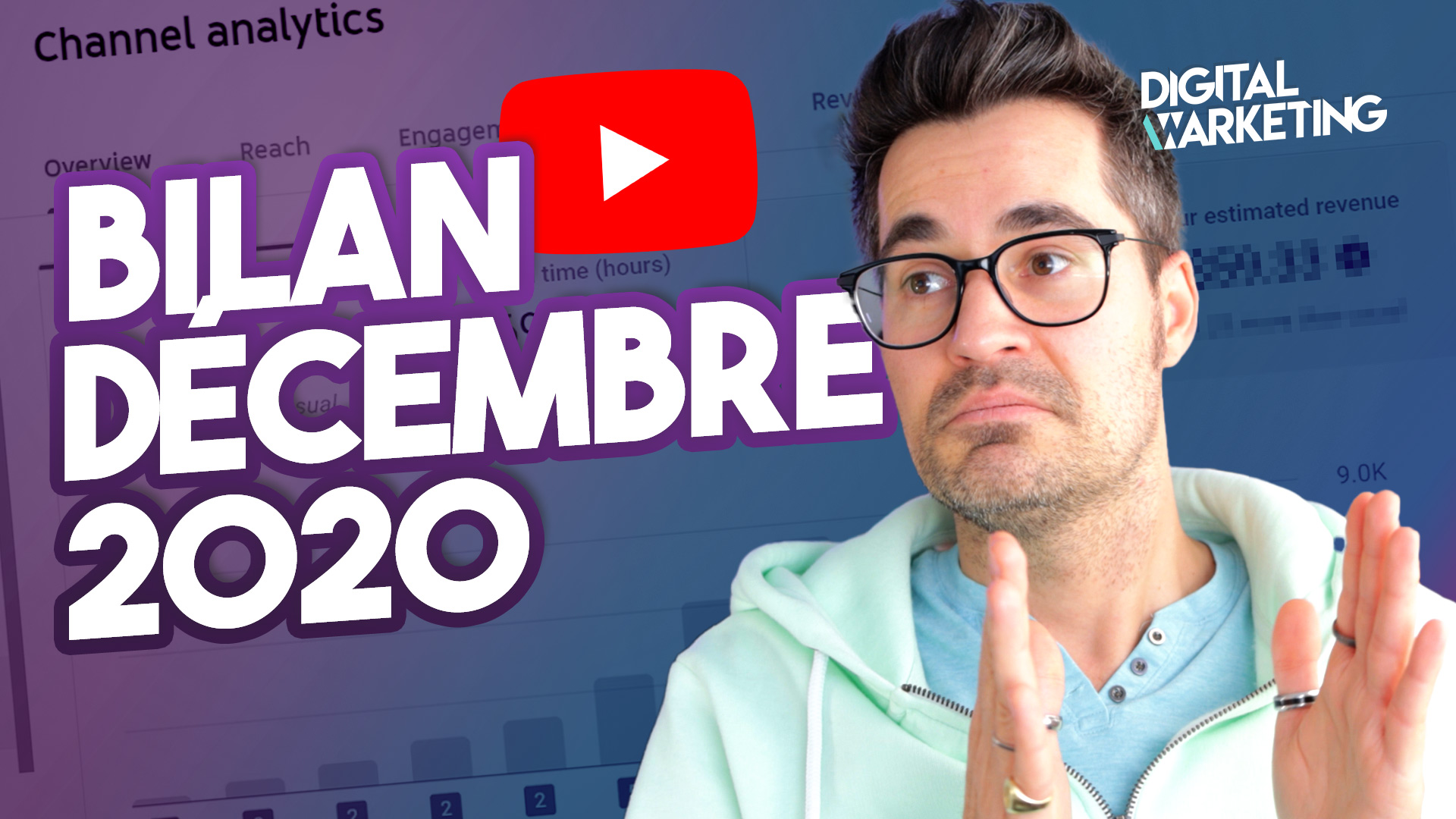 ANALYSE données analytiques YouTube Décembre 2020 – OBJECTIFS 2021 (Podcast, Live, Abonnés)